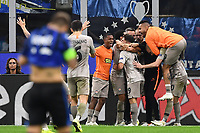 Manor Solomon  of  Shakhtar Donetsk celebrating after score a goal.<br /> Milano 01-10-2019 Stadio Giuseppe Meazza <br /> Football Champions League 2019//2020 <br /> Group Stage Group C <br /> Atalanta - Shakhtar Donetsk  <br /> Photo Image Sport / Insidefoto
