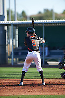 Aidan Kelly (9) of Los Gatos High School in Los Gatos, California during the Baseball Factory All-America Pre-Season Tournament, powered by Under Armour, on January 13, 2018 at Sloan Park Complex in Mesa, Arizona.  (Zachary Lucy/Four Seam Images)