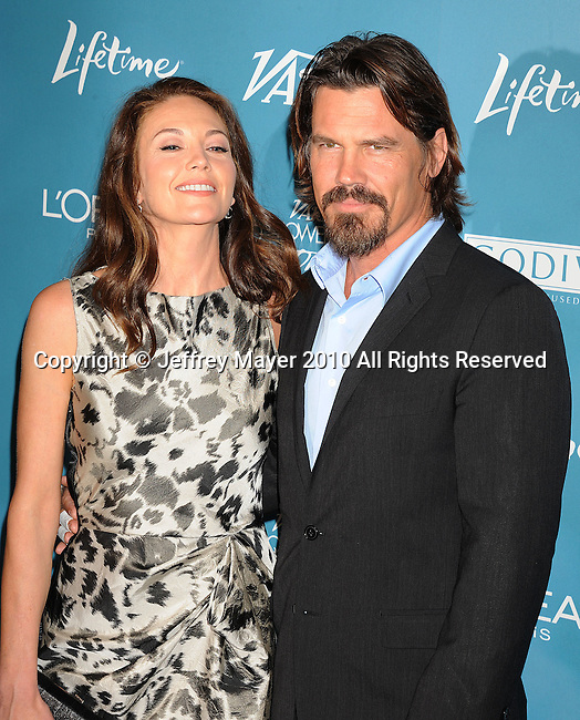 BEVERLY HILLS, CA. - September 30: Diane Lane and Josh Brolin arrive at Variety's 2nd Annual Power Of Women Luncheon at The Beverly Hills Hotel on September 30, 2010 in Beverly Hills, California.