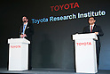 (L to R) Toyota's Executive Technical Advisor Dr. Gill Pratt and Akio Toyoda  President of Toyota Motor Corporation answer questions from the media during a news conference on November 6, 2015, Tokyo, Japan. President Toyoda announced that Toyota would start a new company Toyota Research Institute (TRI) in Silicon Valley, USA, which will focus on Artificial Intelligence and robotics. Dr. Gill will be the Chief Executive Officer of the new company which will begin operations in January 2016. (Photo by Rodrigo Reyes Marin/AFLO)