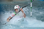 LONDON, ENGLAND - JULY 29:  Dinko Mulic of Croatia competes in the Men's Kayak Slalom Prelims during Day 3 of the London 2012 Olympic Games on July 29, 2012 at the Lee Valley White Water Center Center in Hertfordshire, England. (Photo by Donald Miralle)