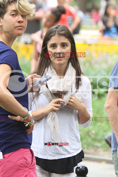 July 31,  2012 Nina Dobrav visit on location for HBO series Girls at Washington Square Park in New York City.Credit:&copy; RW/MediaPunch Inc. /NortePhoto.com<br /> <br /> **SOLO*VENTA*EN*MEXICO**<br /> **CREDITO*OBLIGATORIO** <br /> *No*Venta*A*Terceros*<br /> *No*Sale*So*third*<br /> *** No Se Permite Hacer Archivo**<br /> *No*Sale*So*third*