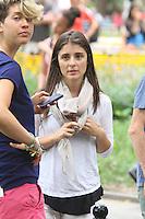 July 31,  2012 Nina Dobrav visit on location for HBO series Girls at Washington Square Park in New York City.Credit:© RW/MediaPunch Inc. /NortePhoto.com<br /> <br /> **SOLO*VENTA*EN*MEXICO**<br /> **CREDITO*OBLIGATORIO** <br /> *No*Venta*A*Terceros*<br /> *No*Sale*So*third*<br /> *** No Se Permite Hacer Archivo**<br /> *No*Sale*So*third*