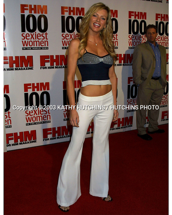 ©2003 KATHY HUTCHINS / HUTCHINS PHOTO AGENCY.FHM MAGAZINE  HOSTS.SEXIEST PARTY OF THE YEAR.RALEIGH STUDIOS.HOLLYWOOD,CA.JUNE 5, 2003..NIKKI ZIERING