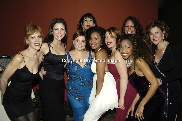 """Kathy Brier and the cast of the Show ..at The Opening Night Party for the Musical """"A Broadway Diva Christmas"""" on December 4, 2005 at The Biltmore. ..Photo by Robin Platzer, Twin Images"""