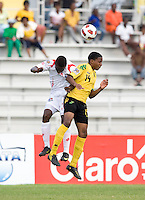 Jevani Brown, Alexander Gonzalez. Panama defeated Jamaica, 1-0, during the third place game of the CONCACAF Men's Under 17 Championship at Catherine Hall Stadium in Montego Bay, Jamaica.