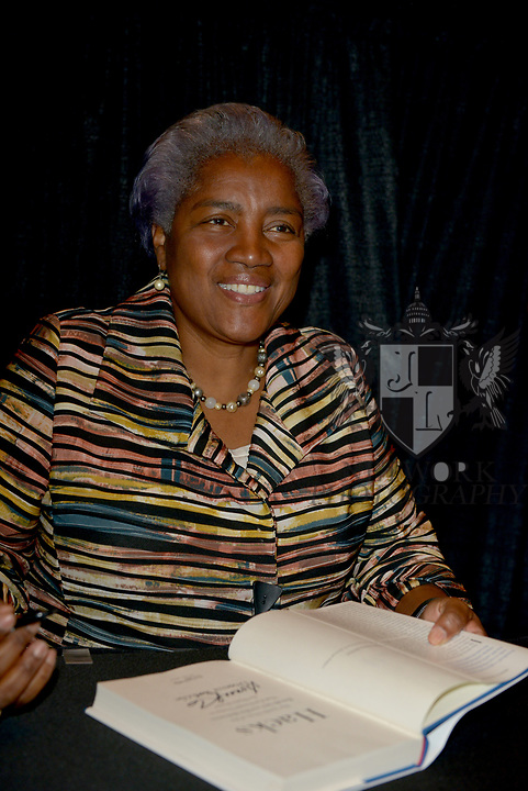 MIAMI, FL - NOVEMBER 15: Donna Brazile sign copies of her book 'HACKS' after a conversation with Ana Navaro during The Miami Book Fair at Miami Dade College Wolfson - Chapman Conference Center on November 15, 2017 in Miami, Florida. ( Photo by Johnny Louis / jlnphotography.com )