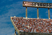 02 September 2006: The Longhorn faithfull filled the upper decks to watch the University of Texas' season opener against the University of North Texas at Darrell K Royal Memorial Stadium in Austin, TX.