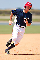 Mills Rogers of the Gulf Coast League Nationals during the game against the Gulf Coast League Mets June 27 2010 at the Washington Nationals complex in Viera, Florida.  Photo By Scott Jontes/Four Seam Images