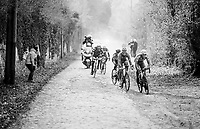 Niki Terpstra (NED/Quick-Step Floors) leading the leaders<br /> <br /> 50th GP Samyn 2018<br /> Quaregnon > Dour: 200km (BELGIUM)