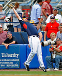11 March 2008: Cleveland Indians' first baseman Jordan Brown pulls in a Texas Leaguer during a Spring Training game against the Detroit Tigers at Chain of Lakes Park, in Winter Haven Florida. The Tigers rallied to defeat the Indians 4-2 in the Grapefruit League matchup...Mandatory Photo Credit: Ed Wolfstein Photo