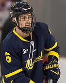 Alex Carle (Merrimack - 6) - The visiting Merrimack College Warriors defeated the Boston University Terriers 4-1 to complete a regular season sweep on Friday, January 27, 2017, at Agganis Arena in Boston, Massachusetts.The visiting Merrimack College Warriors defeated the Boston University Terriers 4-1 to complete a regular season sweep on Friday, January 27, 2017, at Agganis Arena in Boston, Massachusetts.
