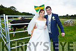 Seamus Kelly and Ciara Molyneaux received two heifers as their wedding present at the Ballygarry Hotel on Saturday last.