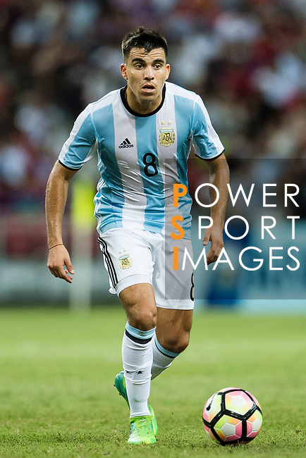 Marcos Acuna of Argentina during the International Test match between Argentina and Singapore at National Stadium on June 13, 2017 in Singapore. Photo by Marcio Rodrigo Machado / Power Sport Images