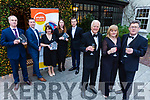 Attending the launch of Enable Ireland Diamond Ball in the Ballygarry Hose Hotel on Monday.<br /> Front l-r, Billy Nolan, Siobhan Murphy and Sean Scally.<br /> Back l-r, Mark Tehan, Brian and Breda Hurley, Celine Moloney and Padraig McGillicuddy.