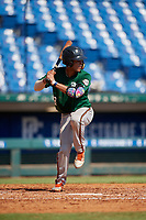 Jayden Melendez (8) of Westminster Christian School in Palmetto Bay, FL during the Perfect Game National Showcase at Hoover Metropolitan Stadium on June 20, 2020 in Hoover, Alabama. (Mike Janes/Four Seam Images)