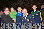 Doreen, Kathlyn, Damian and Dan O'Sullivan and Eoin McCarthy at the Castleisland Desmonds team homecoming in Castleisland on Saturday night.