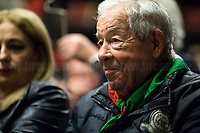 """Mario Di Maio (Antifascist Partizan. Member of the Partigiani: the Italian Resistance during WWII).<br /> <br /> Rome, 07/11/2018. Today, ANPI Roma (National Association of Italian Partizans, Members of the Italian Resistance) celebrated the 100th birthday of Partizan GAP Commander Prof. Mario Fiorentini holding a fully booked public event at the Casa della Memoria e della Storia di Roma (House of Memory and History of Rome). Mario Fiorentini (AKA, Giovanni, as the Apostle; Gandhi, due to be very skinny; Fringuello, due to a launch with a parachute; Dino, as he is called in Piedmont, https://bit.ly/2PL1IHn) was the Commander of the GAP """"Antonio Gramsci"""" in Rome. The GAPs - Gruppi di Azione Patriottica (Patriotic Action Groups, https://bit.ly/2K3jCmJ) were famous because their members, called """"Gappisti"""", carried out acts of sabotage & guerrilla warfare against nazi-fascist troups in cities such as Rome, Milan, Genova, Bologna and others. In Rome, Mario Fiorentini, along with his wife Lucia Ottobrini """"Maria"""" and other partizans, took part in numerous acts of guerrilla including the """"Attack of Via Rasella"""" on 23 March 1944 (Aredeatine Massacre on Wikipedia, https://bit.ly/2ASTk0a). The Man of """"Three Lives in One"""", as Mario Fiorentini is usually described: """"Humanist, GAP Partizan, Mathematician"""", was a roman communist intellectual member of a Jewish family who joined the Partizans Resistance (https://bit.ly/20uiWFf) after the 8 September 1943 Armistice. Subsequently the end of WWII, Mario, helped by his wife, studied maths becaming Professor of Superior Geometry at the University of Ferrara and a globally-known Mathematichian.<br /> <br /> More info about event & organisers:  https://bit.ly/2D96uYA & https://bit.ly/2SUD3yZ<br /> ANSA Doc (in ITA) """"Mario e Lucia, di guerra e d'amore"""" https://bit.ly/1Dg7Ntj"""