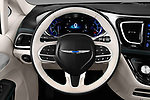Car pictures of steering wheel view of a 2018 Chrysler Pacifica Hybrid Limited 5 Door Mini Van