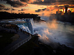 (Niagara Falls, NY, 12/02/17) Sunset over Niagara Falls on Saturday, December 02, 2017. Staff photo by Christopher Evans