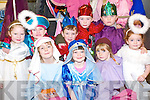 Angels and shepherds: The Christmas performance gang from the Lisselton National School on Friday were Back l-r Amy Lynch, Tadgh Barry, Thomas Molyneux, Emmet Kelly and Ryan Doyle. Back l-r Edel Joy, Katie Moriarty, Rebecca Barry and Sarah Moriarty.   Copyright Kerry's Eye 2008