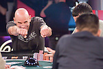"Guy Laliberte is the creator of Cirque de Soleil.  Here he gives Tim Phan ""props"" as Phan doubles up through him."