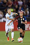 Yuki Ogimi (JPN), Mallory Pugh (USA), JUNE 2, 2016 - Football / Soccer : Women's International Friendly match between United States 3-3 Japan at Dick's Sporting Goods Park in Commerce City, Colorado, United States. (Photo by AFLO)