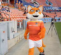 Houston, TX - Wednesday June 28, 2017: Dynamo Diesel during a regular season National Women's Soccer League (NWSL) match between the Houston Dash and the Boston Breakers at BBVA Compass Stadium.