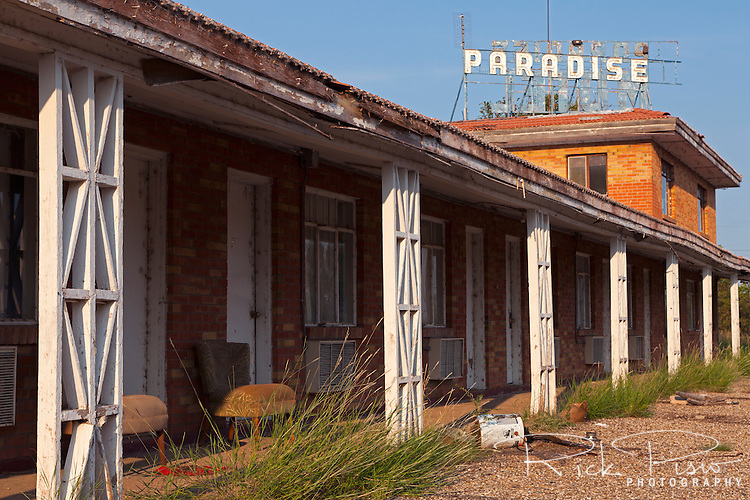 The abandoned Paradise Motel along Route 66 on the west side of Tucumcari, New Mexico.