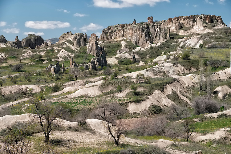 The Cappadocia region feels like another world with its abundant vertical geologic formations covering the area.
