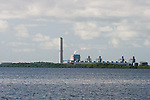 The nuclear power plant, which sits on Biscayne Bay serves the entire population of southern Florida.