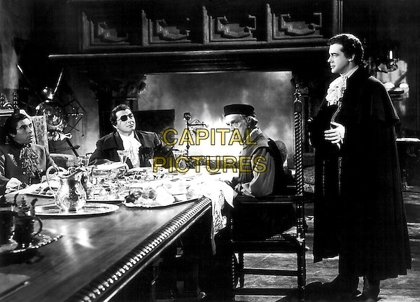 (L to R) Michael Pate, Stephen McNally, Boris Karloff, Richard Greene.in The Black Castle.*Filmstill - Editorial Use Only*.CAP/PLF.Supplied by Capital Pictures.