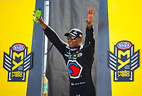 Jul 30, 2017; Sonoma, CA, USA; NHRA top fuel driver Antron Brown during the Sonoma Nationals at Sonoma Raceway. Mandatory Credit: Mark J. Rebilas-USA TODAY Sports