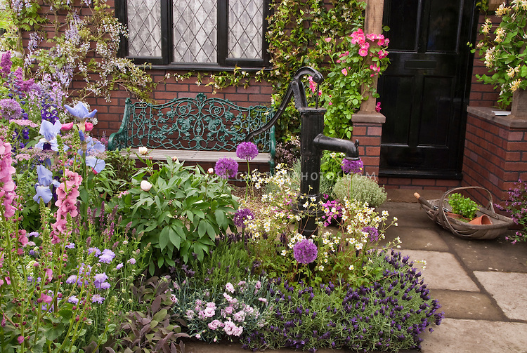 Home curb appeal with herbs plant flower stock for Classic house with flower garden