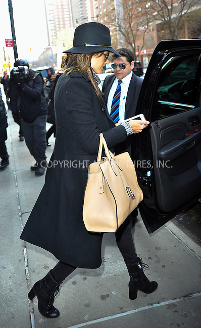 WWW.ACEPIXS.COM<br /> <br /> February 25 2015, New York City<br /> <br /> Model Alessandra Ambrosio leaves a downtown hotel on February 25 2015 in New York City<br /> <br /> By Line: Curtis Means/ACE Pictures<br /> <br /> <br /> ACE Pictures, Inc.<br /> tel: 646 769 0430<br /> Email: info@acepixs.com<br /> www.acepixs.com
