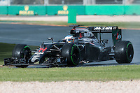 March 18, 2016: Fernando Alonso (ESP) #14 from the McLaren Honda Formula 1 team during practise session two at the 2016 Australian Formula One Grand Prix at Albert Park, Melbourne, Australia. Photo Sydney Low