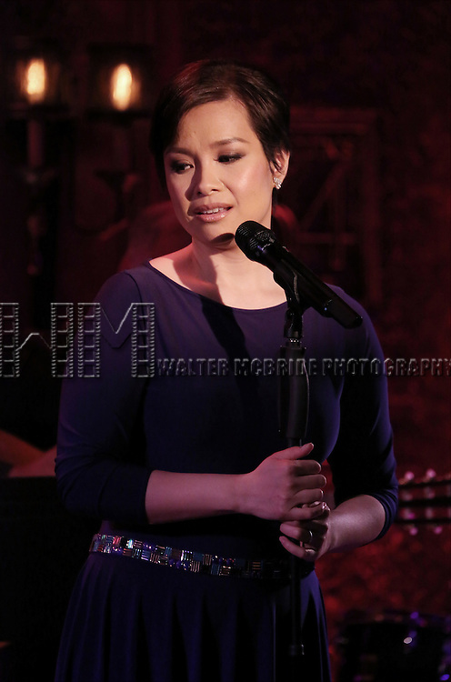 Lea Salonga during her Feinsteins/54 Below Press Preview at Feinsteins/54 Below on April 7, 2016 in New York City.