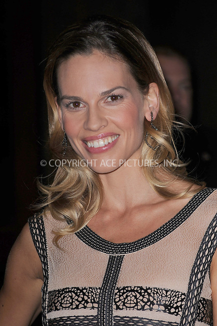 WWW.ACEPIXS.COM . . . . . .October 12, 2010, New York City... Hilary Swank attends the screening of 'Conviction' at Tribeca Grand Hotel on October 12, 2010 in New York City....Please byline: KRISTIN CALLAHAN - ACEPIXS.COM.. . . . . . ..Ace Pictures, Inc: ..tel: (212) 243 8787 or (646) 769 0430..e-mail: info@acepixs.com..web: http://www.acepixs.com .