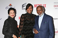 LOS ANGELES - JAN 22:  Jacqueline Avant, Nicole Avant, Clarence Avant at the 2020 African American Film Critics Association Awards at the Taglyan Complex on January 22, 2020 in Los Angeles, CA