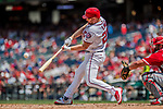16 August 2017: Washington Nationals outfielder Adam Lind in action against the Los Angeles Angels at Nationals Park in Washington, DC. The Angels defeated the Nationals 3-2 to split their 2-game series. Mandatory Credit: Ed Wolfstein Photo *** RAW (NEF) Image File Available ***