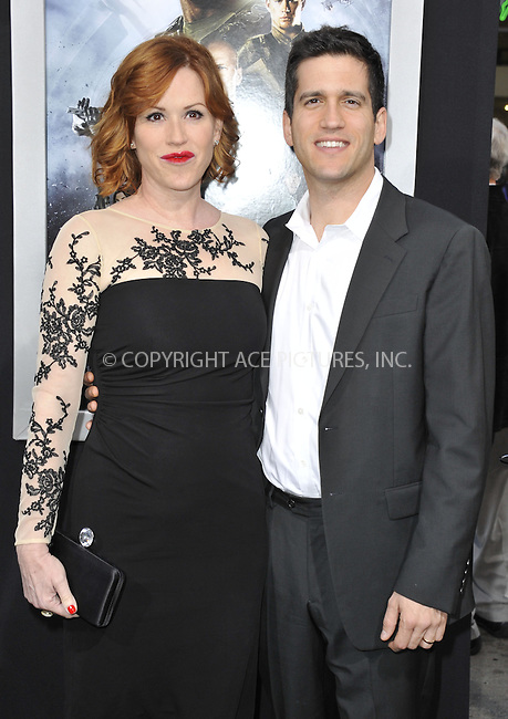 WWW.ACEPIXS.COM....March 28 2013, LA....Molly Ringwald and Panio Gianopoulos  arriving at the 'G.I. Joe: Retaliation' Los Angeles premiere at the TCL Chinese Theatre on March 28, 2013 in Hollywood, California.......By Line: Peter West/ACE Pictures......ACE Pictures, Inc...tel: 646 769 0430..Email: info@acepixs.com..www.acepixs.com
