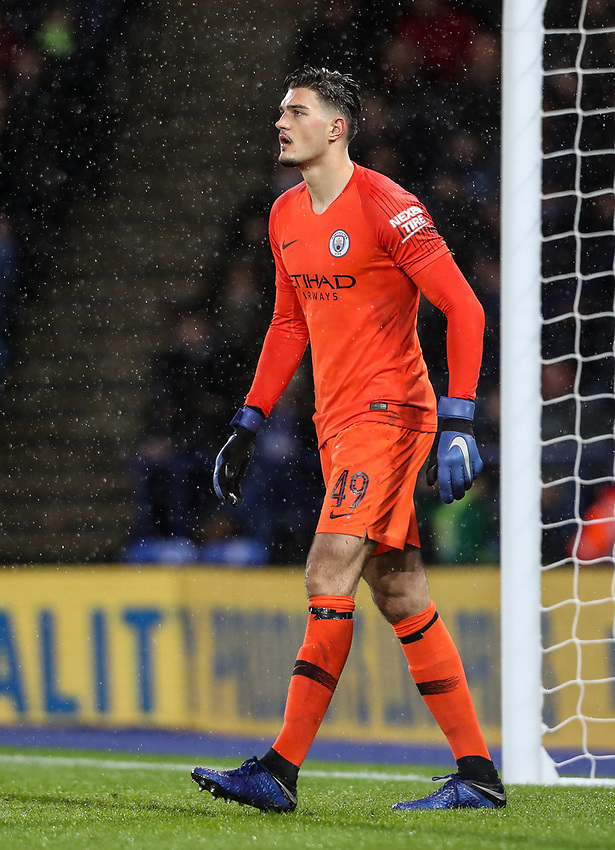 Manchester City's Arijanet Muric<br /> <br /> Photographer Andrew Kearns/CameraSport<br /> <br /> English League Cup - Carabao Cup Quarter Final - Leicester City v Manchester City - Tuesday 18th December 2018 - King Power Stadium - Leicester<br />  <br /> World Copyright © 2018 CameraSport. All rights reserved. 43 Linden Ave. Countesthorpe. Leicester. England. LE8 5PG - Tel: +44 (0) 116 277 4147 - admin@camerasport.com - www.camerasport.com