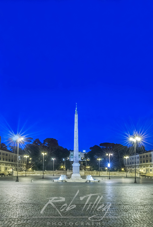 Europe, Italy, Rome, Piazza Popolo Dawn