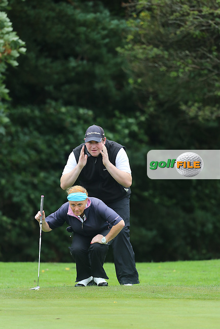 Lorna Duffy and Peter Doherty (Strabane) during the Ulster Mixed Foursomes Final, Shandon Park Golf Club, Belfast. 19/08/2016<br /> <br /> Picture Jenny Matthews / Golffile.ie<br /> <br /> All photo usage must carry mandatory copyright credit (&copy; Golffile | Jenny Matthews)