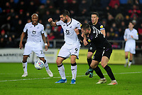 Borja Baston of Swansea City in action during the Sky Bet Championship match between Swansea City and Charlton Athletic at the Liberty Stadium in Swansea, Wales, UK.  Thursday 02 January 2020
