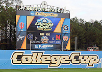 HOOVER, AL - DECEMBER 07, 2012:  Scoreboard during an NCAA 2012 Men's College Cup semi-final match, at Regents Park, in Hoover , AL, on Friday, December 07, 2012. The game ended in a 4-4 tie, after overtime Georgetown won on penalty kicks.