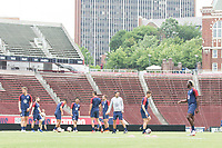 Cincinnati, OH - June 8, 2019: The USMNT train at Nippert Stadium.