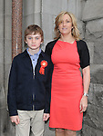 Adam Smith from LeCheile school who was confirmed at St. Mary's church pictured with mam Bernie. Photo: Colin Bell/pressphotos.ie