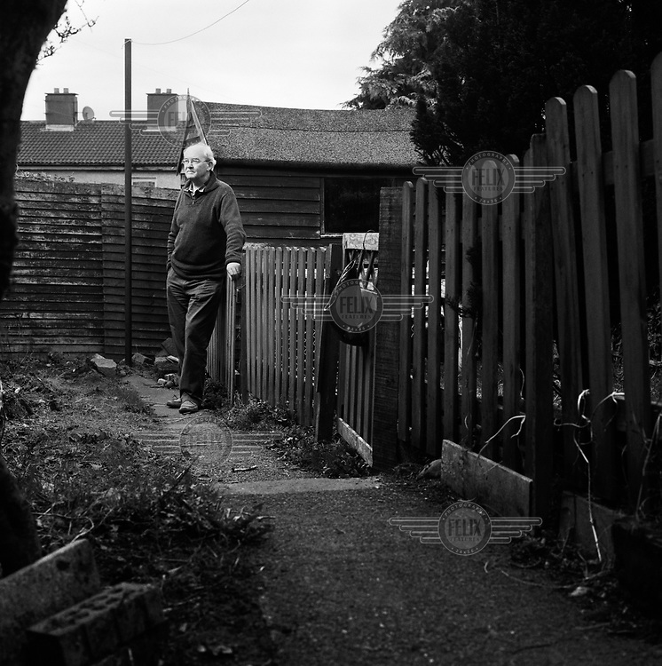 Local historian Tomas Maher, in the back garden of his house on the Killinarden Estate.