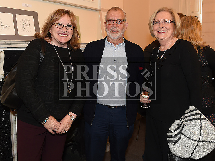 Carmel McCreagh, Fiachra French and Carmel Schmidt at the Bea Orpen exhibition in Barlow House. Photo:Colin Bell/pressphotos.ie